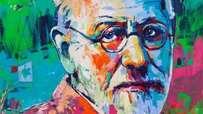 Sigmund Freud, 190x210 cm, Acrylic On Canvas, 2015-01, Voka